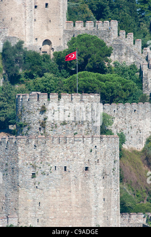 Rumeli Fortress on the Bosporus, Istanbul Turkey. 2011. - Stock Photo