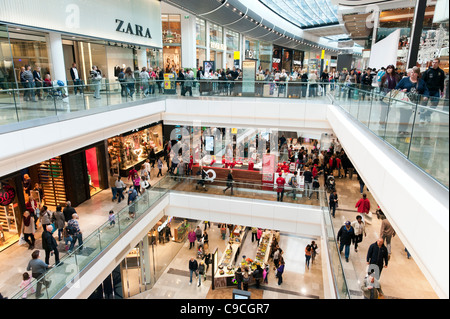 Westfield Stratford City shopping mall, London, England, UK - Stock Photo