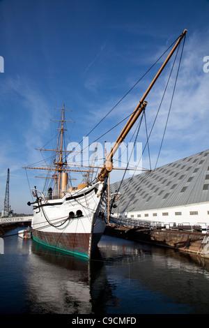 HMS Gannet at The Historic Dockyard Chatham - Stock Photo