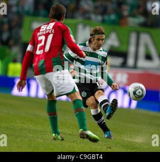 22.12.2011. Lisbon, Portugal.  Portuguese Cup Quarter final - Sporting CP versus SC Maritimo (SCM) Diego Capel Sporting - Stock Photo