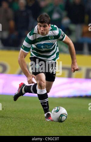 Portugal Cup Quarter final - Sporting CP (SCP) x SC Maritimo (SCM)  Insua Sporting Clube Portugal Defender  Photo - Stock Photo