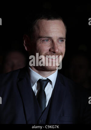London, UK, 19/01/2012 Michael Fassbender arrives for the London Film Critics Circle Awards held at the BFI in London. - Stock Photo