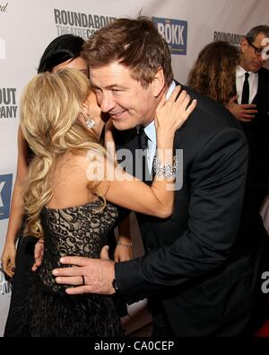 Kristin Chenoweth, Alec Baldwin at arrivals for The Roundabout Theatre Company's 2012 Spring Gala, Hammerstein Ballroom, - Stock Photo