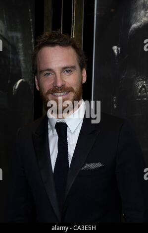 Michael Fassbender attends The world premiere of Sir Ridley Scott's new sci-fi thriller Prometheus on 31/05/2012 - Stock Photo