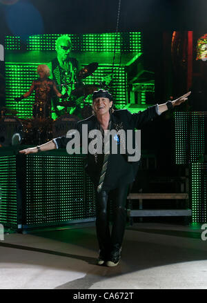 June 12, 2012 - Morrison, CO, USA - Lead Vocals KLAUS MEINE of the Scorpions performs to a sold out crowd at Red - Stock Photo