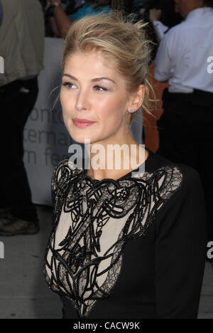 Sept. 12, 2010 - Toronto, ON, Canada - Rosamund Pike at the 2010  Toronto International Film Festival premiere of - Stock Photo
