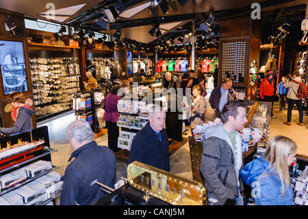 Gift Shop inside Belfast's Titanic Signature Building - Stock Photo