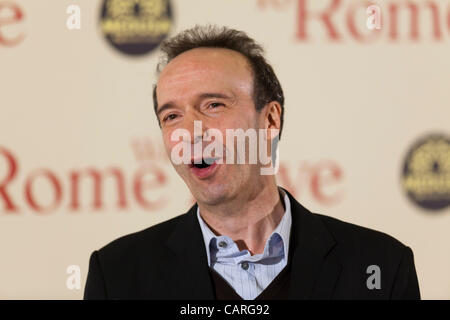 ROME, ITALY. FRIDAY, APRIL 13th, 2012. World premiere of Woody Allen's film 'To Rome With Love' at the Auditorium, - Stock Photo