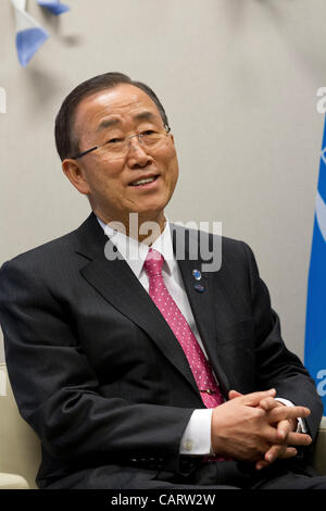 Secretary General of the United Nations Ban Ki-Moon - Stock Photo