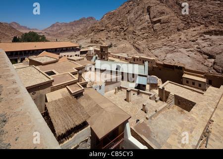 view of Saint Catherine's Monastery, Sinai Peninsula, Egypt - Stock Photo