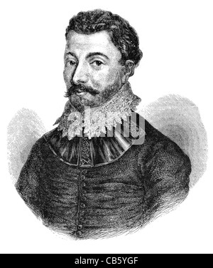 Sir Francis Drake Vice Admiral English sea captain privateer navigator slaver politician Elizabethan era knighthood - Stock Photo