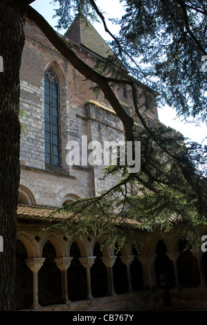 The Benedictine abbey and cloisters of St. Pierre in Moissac, France, which were originally founded in the 7th century. - Stock Photo