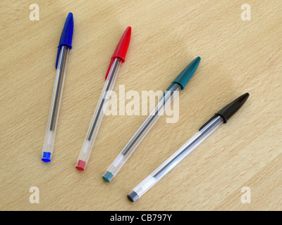 A Selection Bic Biro Pens - Stock Photo