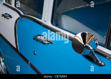 A 1955 Chevrolet Details, Havana (La Habana), Cuba - Stock Photo