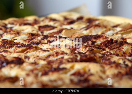 Freshly baked apple pie on a baking sheet - Stock Photo