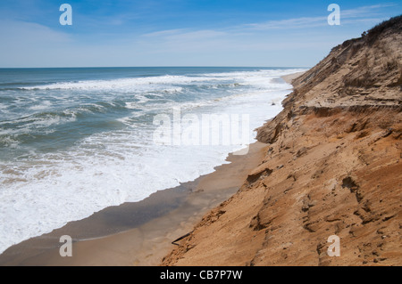 Drifting dunes of Marconi Beach, Cape Cod - Stock Photo
