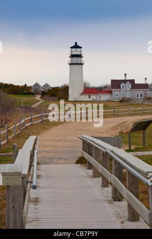 Highland Light In Truro, Cape Cod, MA - Stock Photo