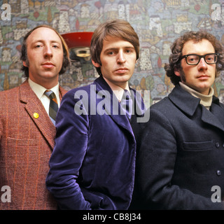 SCAFFOLD UK pop trio in December 1967 from left: Roger McGough, Mike Mcgear, John Gorman. Photo Tony Gale - Stock Photo