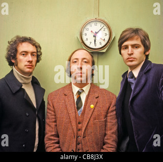 SCAFFOLD UK pop trio in December 1967 from left: John Gorman, Roger McGough, Mike McGear. Photo Tony Gale - Stock Photo