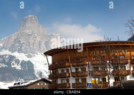 Posta Zirm Hotel in Corvara, Alta Badia, Alto Adige, Italy - Stock Photo