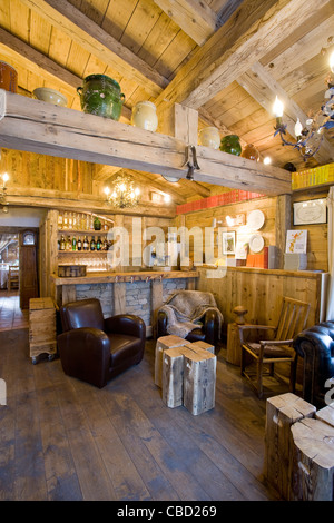 Lounge in chalet - Stock Photo