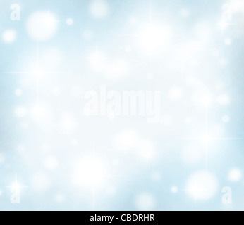 Christmas holiday background card made of abstract defocused magic lights - Stock Photo