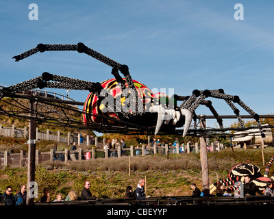 Large lego model of spider in Legoland, Windsor, Berkshire, UK - Stock Photo