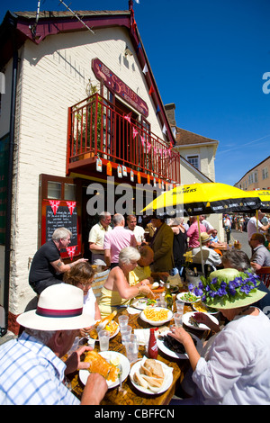 Salties Restaurant, Old Gaffers Festival, Yarmouth, Isle of Wight, England, UK - Stock Photo