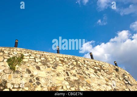 aged, ancient, architecture, backgrounds, beauty, boulder, brick, cobblestone, color, construction, decay, fence, - Stock Photo