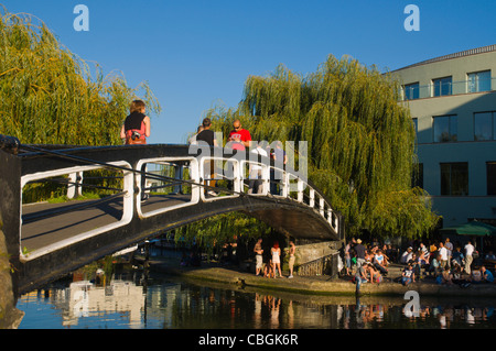 Camden Lock part of Regent's Canal at Camden Town north London England UK Europe - Stock Photo