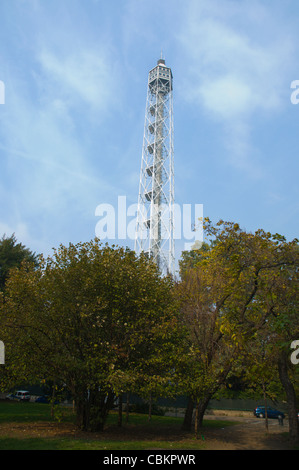Mussolini era Torre Branca tower Parco Sempione park central Milan Lombardy region Italy Europe - Stock Photo
