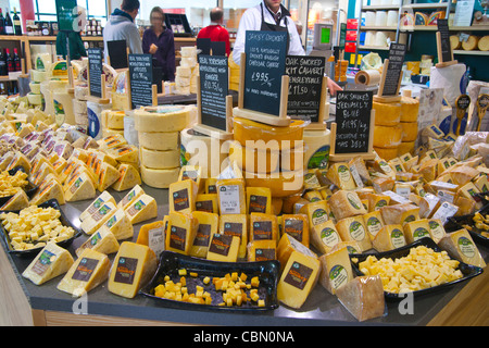 Wensleydale creamery, cheese, Hawes, Yorkshire dales National Park, England - Stock Photo