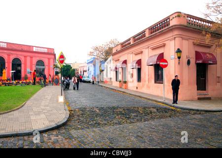 old restaurants at Colonia del sacramento. uruguay, south america. - Stock Photo