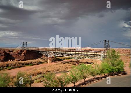 Bridge over the little Colorado river - Stock Photo