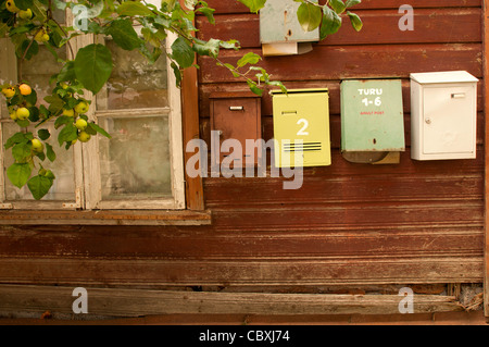 An old Estonian house in Haapsalu - Stock Photo