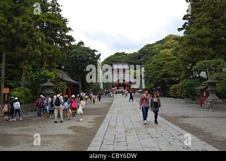 Tsurugaoka Hachiman-gu Shrine, Kamakura, Japan - Stock Photo