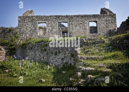 THE FORTRESS OF ZABLJAK CRNOJEVICA, HINTERLAND AROUND LAKE SKADAR (SKADARSKO JEZERO), MONTENEGRO, EUROPE - Stock Photo
