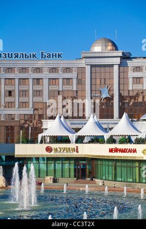Kazakhstan, Astana, Kazakhstan, Astana, Nurzhol bulvar, central boulevard of Kazakhstan's new governmental and - Stock Photo