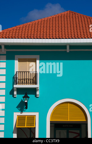 Puerto Rico, North Coast, Barceloneta, Prime Outlet Shopping Mall, building detail - Stock Photo