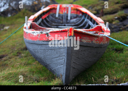 Traditional Irish Currach fishing boat - Stock Photo