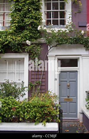 Terraced house on Portobello Road, Notting Hill, London, UK - Stock Photo