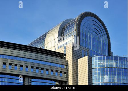 The European Parliament in the Leopold Quarter / Quartier Léopold in Brussels, Belgium - Stock Photo