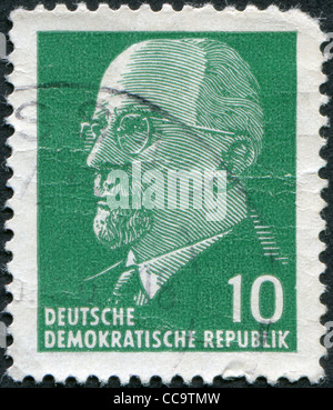 DDR - CIRCA 1961: A stamp printed in DDR, shows Walter Ulbricht, circa 1961 - Stock Photo
