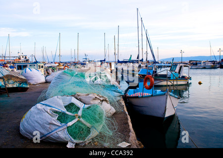 The historic port of Acre in north Israel - Stock Photo