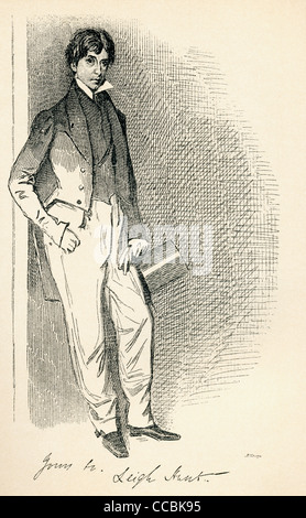 James Henry Leigh Hunt, 1784 – 1859, as a young man. English critic, essayist, poet and writer. - Stock Photo