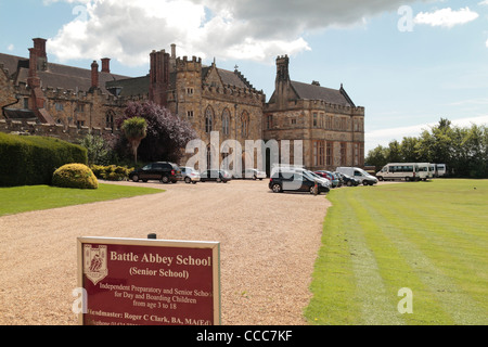 The Battle Abbey School in Battle, East Sussex, England. - Stock Photo