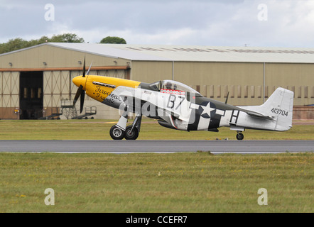 P-51D Mustang fighter aircraft 'Ferocious Frankie' at RIAT 2011 - Stock Photo