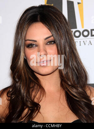 Mila Kunis arrives for the 14th Annual Hollywood Awards Gala held at the Beverly Hilton. (Credit Image: © Lisa O'Connor/ZUMApress.com) - Stock Photo