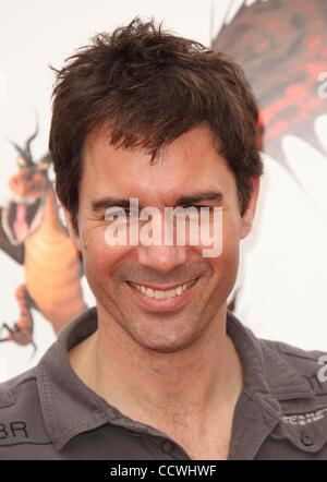 Mar 21, 2010 - Universal City, California, USA - Actor ERIC MCCORMACK arriving to the 'How To Train Your Dragon' - Stock Photo