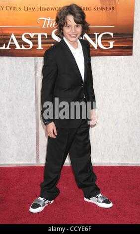 Mar 25, 2010 - Los Angeles, California, USA - Actor BOBBY COLEMAN  at the 'The Last Song' Los Angeles Premiere held - Stock Photo